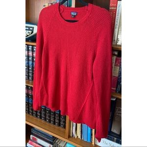 nwot PATAGONIA Red Cashmere-Wool Blend Sweater L